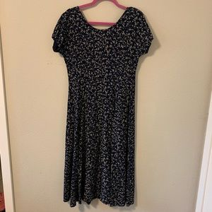 Vintage Dresses - Vintage 90's Floral Midi Dress